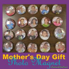 Photo / magnet gift     Glue pic to a clear stone, then glue a magnet on the back of pic