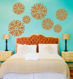 Flower vinyl wall decal