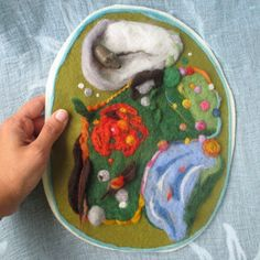 Cute Needle felted Play Mat Four Seasons by ClaudiaNanniFineArt