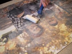 photo craft This one tutorial I haven't seen around here yet. It is the typical mounting of the pic on to canvas but this one takes it bit farther with giving you tips to make the picture really look like canvas. Photo Projects, Crafty Projects, Diy Projects To Try, Photo Craft, Diy Photo, Photo Ideas, Diy Wall Art, Diy Art, Wall Decor