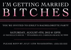 Printable Bachelorette Party Invitation  5 x 7 by aprintabledesign