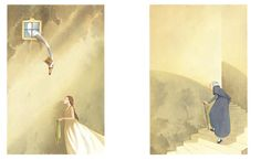 "Germano Ovani illustration for ""The Wild Swans""."