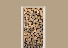 Meer sfeer in huis creëer je met deze bijzondere deursticker met houtblokken. Staat geweldig in iedere landelijke inrichting.