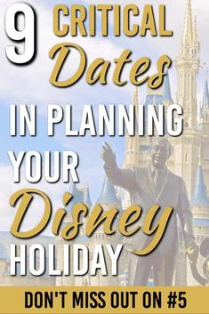 There are 9 main dates you must know for your Disney holiday. Ignore them at your own risk. But plan around them and you can have the trip of a lifetime. Disney On A Budget, Disney Vacation Planning, Orlando Vacation, Disney World Planning, Vacation Trips, Trip Planning, Disney World Florida, Disney World Parks, Walt Disney World Vacations