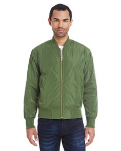 This Threadfast Unisex Bomber Jacket is a versatile piece for wearing year-round that will add versatility and style to anyone's wardrobe.