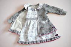 Schnabelinas Welt: Noten-Kleidchen mit Volantjacke