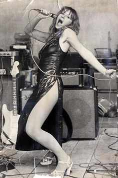 Helen Mirren rocking out in leather in 1975,