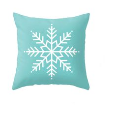 Turquoise Christmas pillow Snow flakepillow Turquoise Christmas decor... ($32) ❤ liked on Polyvore featuring home, home decor and throw pillows