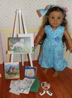 American girl size art set