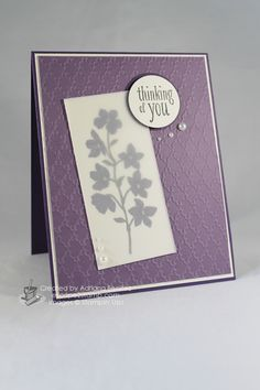 Escape2stamp: Stampin' Up! Peaceful Petals; any occasion greeting card