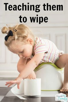 When should a child wipe themselves