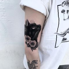 Black cat – Aquarell tattoo – Source by Black Cat Tattoos, Animal Tattoos, Head Tattoos, Body Art Tattoos, Tatoos, Tattoo Names, Tattoo Neck, Tattoo Hand, Tattoo Fonts