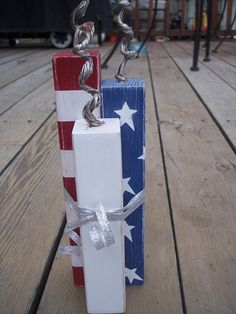 Firecrackers using 4x4 fence post