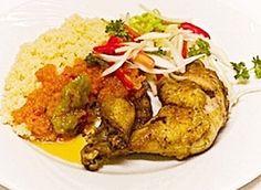 Attieke with chicken ivorian food