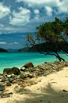 Cinnamon Bay, St. John, US Virgin Islands. This is a secluded beach!! Special place for me & my husband!!