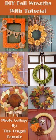 DIY Fall Wreaths With Tutorial