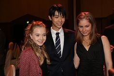 Elena Radionova(Russia),Yuzuru Hanyu(JAPAN) and Julia Lipnitskaia(Russia)