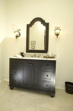 Eastburn Woodworks can create your bathroom vanity to your unique specifications. #CustomCabinets #Cabinets #Bathroom #Vanity