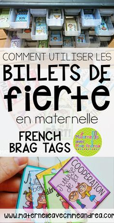 Maternelle avec Mme Andrea: How to get your French Primary Students Excited to be their Best French Teaching Resources, Teaching French, Teaching Tools, Teaching Ideas, Study French, Learn French, Classroom Management Techniques, Class Management, Ticket