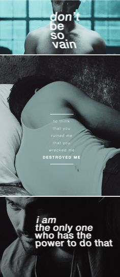 """""""Don't be so vain to think that you ruined me, that you wrecked me, destroyed me. I am the only one who has the power to do that."""" #tw"""