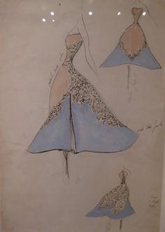 Charles James - Esquisses et Croquis - Forme - 1953 - Robe de Bal 'Feuilles de Trèfle'