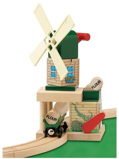 LEARNING CURVE BRANDS THOMAS AND FRIENDS WOODEN RAILWAY - TOBY'S WINDMILL $34.98