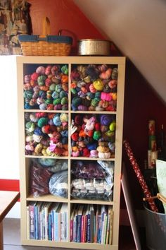Yarn/book storage