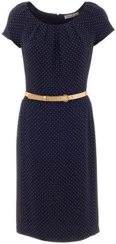 Dior Polka Dot Dress with Pleats