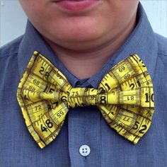 Tape Measure Bow Tie Ruler Architect Builder Woodworker Tux Tuxedo