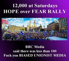 Te BBC the Worlds most Biased Media. They Lie like Hell don't believe a word they say Two Kinds Of People, People Of The World, Good People, Scottish Independence, Alternative News, Mainstream Media, Freedom Fighters, World Peace, Equality