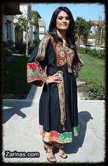 Beautiful Black Afghani Dress https://www.zarinas.com/