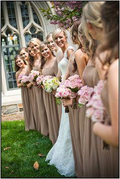 PARIS MOUNTAIN PHOTOGRAPH  Bouquet Bridal party  Pink