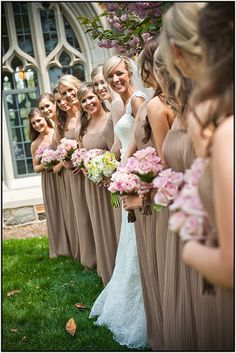 PARIS MOUNTAIN PHOTOGRAPH  Bouquet Bridal party  Pink