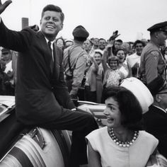 JFK and Jackie O.
