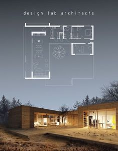 A one bedroom/one and a half bath plus study/second bedroom timber frame home by Design Lab Architects of Poland.
