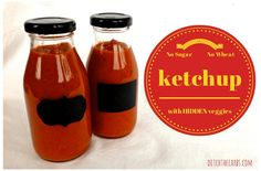 East recipe for sugar free, gluten free and wheat free homeade ketchup with hidden vegetables. Gluten free, low carb, sugar free, wheat free, LCHF, HFLC, Banting, paleo and primal.   ditchthecarbs.com