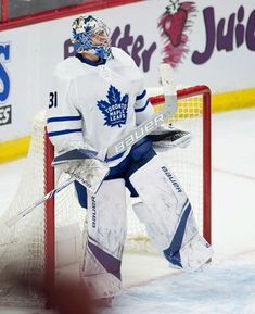 f0eaa50d311 Toronto Maple Leafs goaltender Frederik Andersen celebrates after the final  whistle in the team s NHL hockey game against the Ottawa Senators