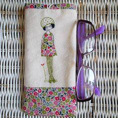 green girl glasses case by LiliPopo on Etsy, £17.00