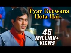 Watch this super hit romantic old Hindi song Pyar Deewana Hota Hai sung by Kishore Kumar from classic blockbuster film Kati Patang starring Rajesh Kha. Hindi Old Songs, Hindi Movies, Nasir Hussain, Old Bollywood Songs, Asha Parekh, Rajesh Khanna, Kishore Kumar, Blockbuster Film, Star Cast
