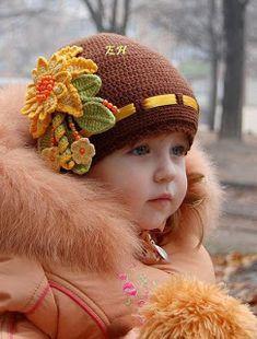 Ideas For Crochet Baby Girl Beanie Inspiration Crochet Summer Hats, Crochet Baby Beanie, Baby Knitting, Hat Crochet, Baby Girl Hats, Girl With Hat, Girls Hats, Kids Girls, Baby Girls