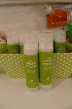 @Marni Wasserman's Green Cream with purified water, aloe vera juice, and avocado oil.