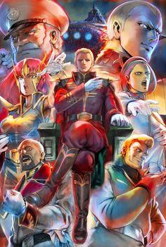 偉大なる宇宙の将軍達 ギレンの野望 アクシズの脅威V用に描いた絵です。レビル将軍がすきなので強そうに描けたと思うのでよかったです。 「偉大なる宇宙の将軍達」/「あきまん」のイラスト [pixiv] 機動戦士ガンダム ギレンの野望 アクシズの脅威V:パッケージイラスト(http://www.b.bngi-channel.jp/gihren/v/ )
