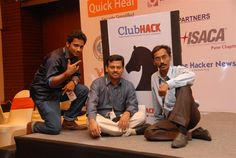 KnightX+ team: Rahul Sasi, Rohit Srivastwa & Aniruddha Thombre