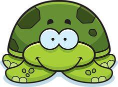 Sorrindo pequena tartaruga do mar - Ilustração