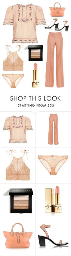 """just peachy"" by im-karla-with-a-k ❤ liked on Polyvore featuring Rebecca Taylor, Emilio Pucci, STELLA McCARTNEY, Bobbi Brown Cosmetics, Yves Saint Laurent, Chloé and Alexander Wang"