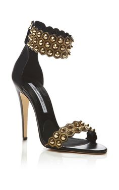 Abel Studded Leather Sandals by Brian Atwood