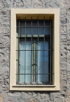 Texture - old barred window with stone frame 14 - Windows . Window Bars, Old Bar, Baseboards, Door Signs, Prison, Layout, Windows, Doors, Rustic