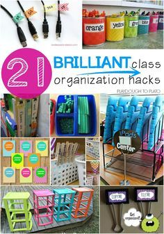 Storing and Organizing 21 Brilliant Classroom Organization Hacks. Genius tricks for storing supplies, keeping track of student work, plus tons of free printables to keep you organized all year long. Classroom Hacks, New Classroom, Classroom Setting, Classroom Setup, Classroom Design, Kindergarten Classroom Organization, Classroom Libraries, Diy Classroom Decorations, Decorating High School Classroom