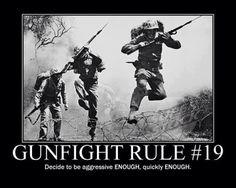 Gunfighting rule