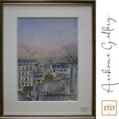 artist Georgette Archane-Gebel Year 2000 Watercolour painting on paper cm Comes with frame cm) Etsy Co, Bio, Painting, Vintage, Frame, Decor, Watercolor Painting, Water Colors, Old Paris